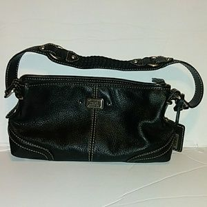The sak small black leather purse